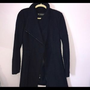 Guess Navy Blue Dress Coat